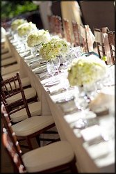 Wedding floral table