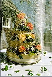 Veiled Wedding Cake